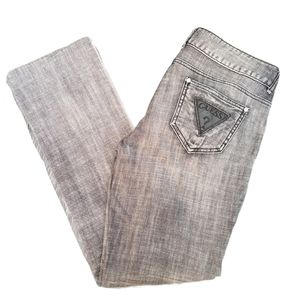 Guess Jeans women's black bootcut denim jeans